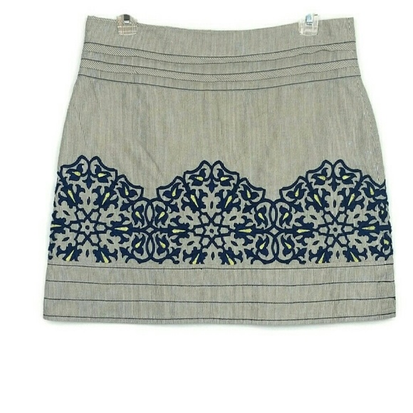 Anthropologie Dresses & Skirts - FLOREAT Embroidered Skirt Women's Size 4